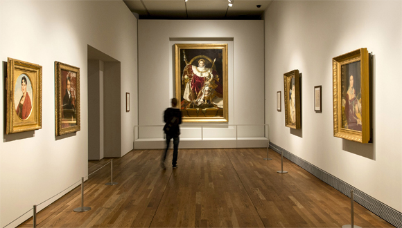 """"""" Napoléon Ier sur le trône impérial """" par Ingres au musée du Prado : bandeau"""