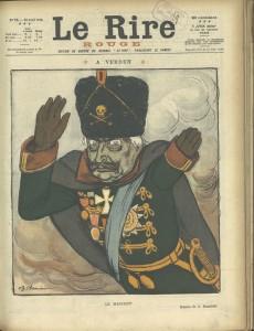 Verdun épisode 1-2 : Le Rire. A Verdun. Le manchot, journal humoristique, n° 75, 22 avril 1916, Barrère Adrien (1877 – 1931) / Photo © BnF, Dist. RMN – Grand Palais / image BnF