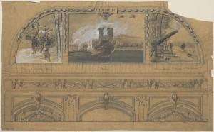 Verdun épisode 23-1 : Projet de décor pour la voute su salon d'Honneur de l'hôtel des Invalides, Flameng François