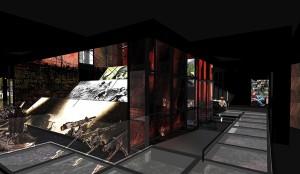 Verdun épisode 27-3 : Le dispositif audiovisuel 3D du champ de bataille, © Agence Le Conte - Noirot scénographes