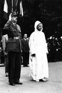 MA Actus Mohammed V De Gaulle 201x300 Sidi Mohammed Ben Youssef, compagnon de la Libération