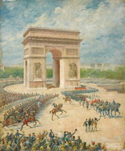 Translation des cendres de Rouget de Lisle le 14 juillet 1915 par Royer © Paris, musée de l'Armée, dist. RMN-GP