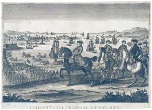 Louis XVI, roi de France et de Navarre, assistant à l'embarquement des troupes pour la Guerre d'Indépendance américaine. © Paris - Musée de l'Armée, dist. RMN-GP Émilie Cambier