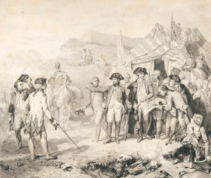 Siège de Yorktown. Les généraux de Rochambeau et Washington donnent les derniers ordres pour l'attaque. © Paris, musée de l'Armée, dist. RMN-GP Émilie Cambier