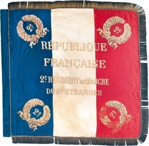 Drapeau du 2e régiment de marche du 2e régiment étranger. © Paris, musée de l'Armée, dist. RMN-GP Anne-Sylvaine Marre-Noël