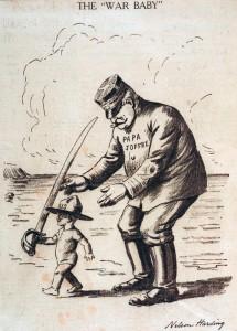 Dessin de Nelson Harding paru dans la presse américaine en 1917. © Paris, musée de l'Armée, dist. RMN-GP