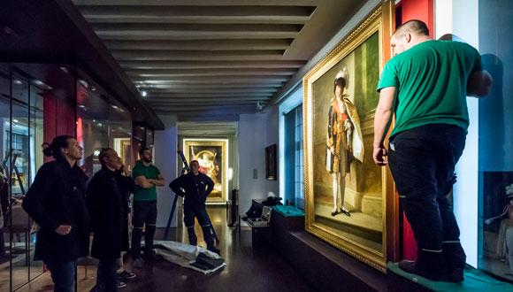 Nouvel accrochage pour le « Portrait de Joachim Murat » par François Gérard